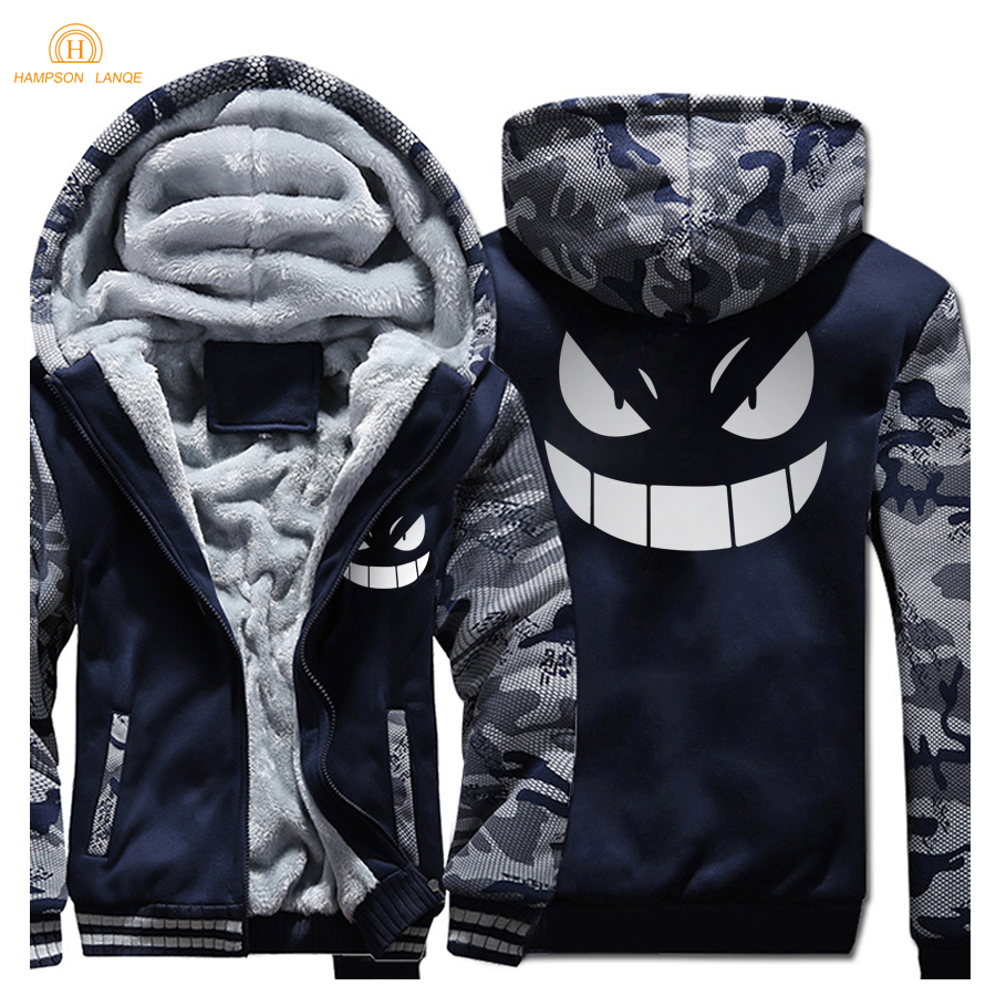 Japan Anime Harajuku Style Hoodies Men 2019 Winter Fleece High Quality Fashion Sweatshirts Casual Thicken Coat Plus Size Jackets in Hoodies amp Sweatshirts from Men 39 s Clothing