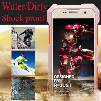 S7 de lujo Dirtproof a prueba de golpes a prueba de agua de Metal de aluminio del teléfono del caso para Samsung Galaxy S7 borde 3 en 1 con 3 piezas de la lente micro