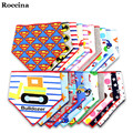 2Pcs/lot Cartoon Baby Bibs Boys Girls Towel Cotton Baby Bandana Bibs Newborn Baby Bib Infant Saliva Towel Toddler Triangle Scarf