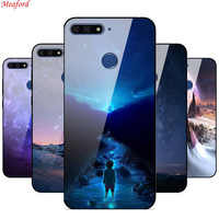 Honor 7C Case Tempered Glass Back Case For Huawei Honor 7C AUM-L41 Cover Honor 7A Pro Y6 2018 Soft Bumper On Honor 7 C Honor 7A