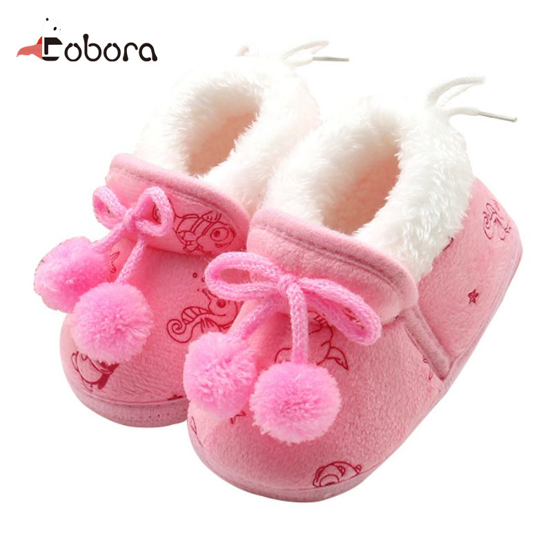Brand Autumn Sweet Cute Newborn Toddler First Walkers Baby Boy Girl Shoes Sneakers Moccasins Boots Hot Sapato Menina