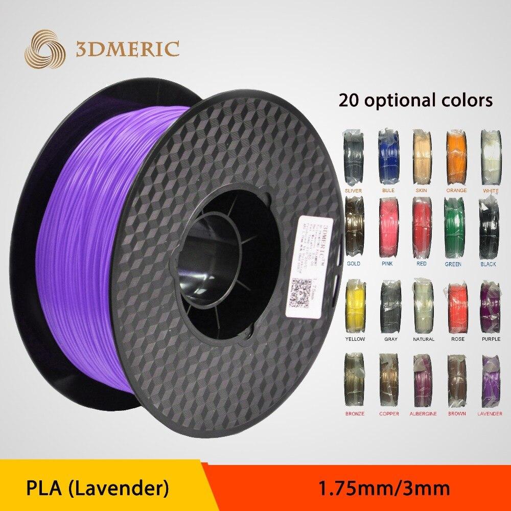 Wholesale 3D Printer Filament 1.75mm 3mm 2.85mm PLA Plastic filament