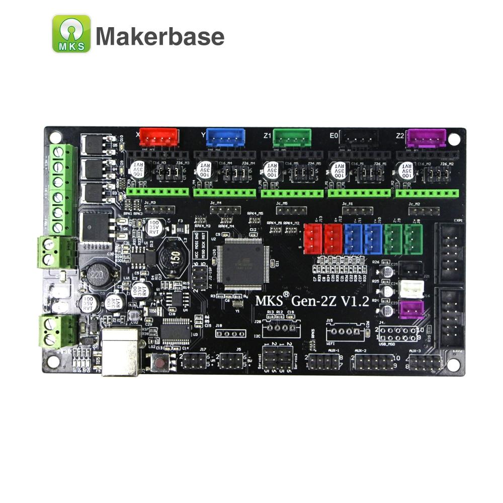 12 V/24 V MKS Gen-2Z double z axe contrôleur support 4988/8825/TMC2208/TMC2100 pilote pas à pas LCD12864 TFT pour pièces d'imprimante 3D