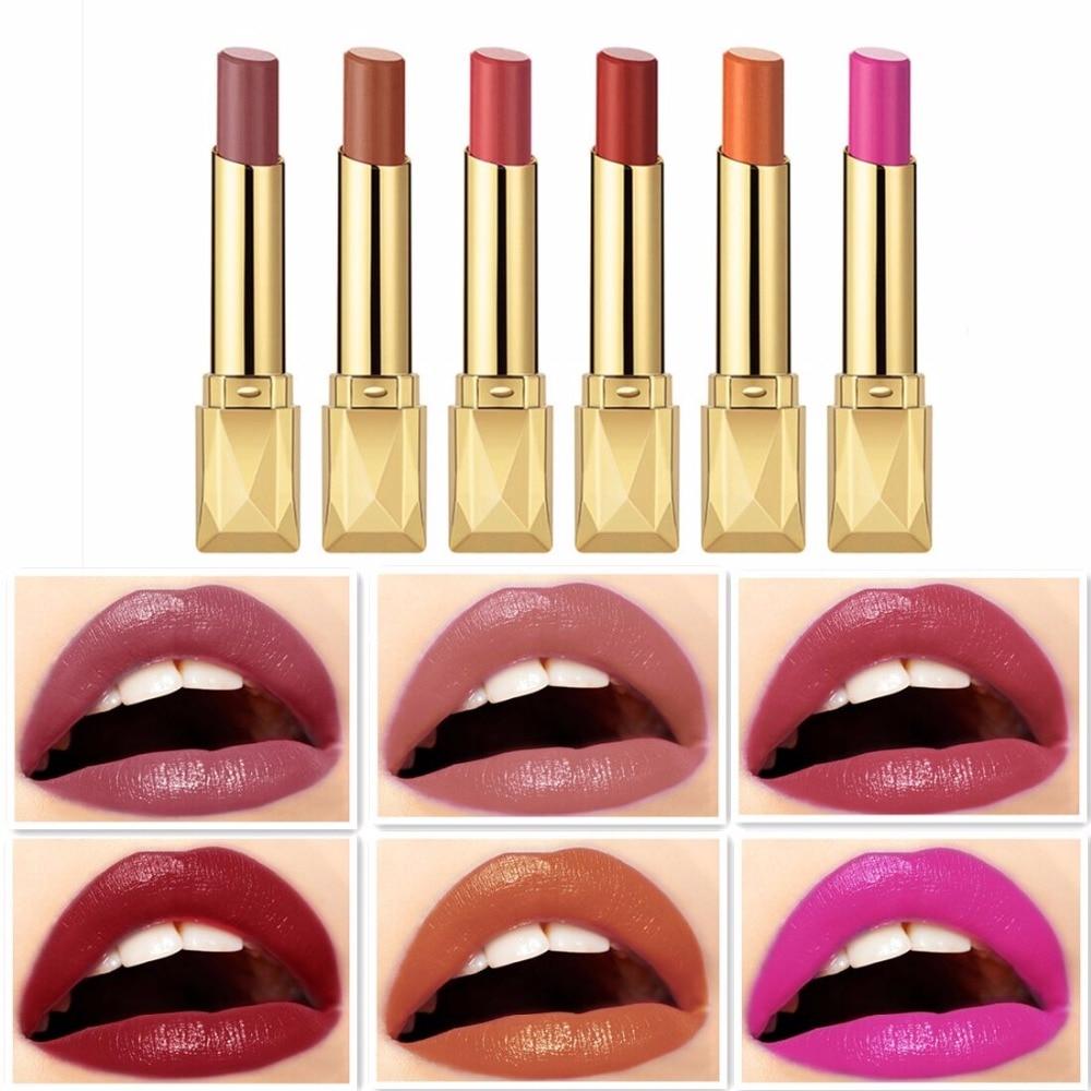 Beauty Matte Lipstick Long Lasting Cosmetics Maquiagem Women Makeup Red Batom Pigments Waterproof Lip Stick Pintalabios Mate 21