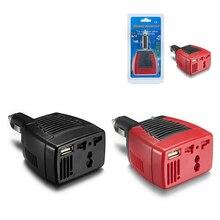 Полезные Автомобильные инверторы 75 W автомобильный инвертор зарядное устройство адаптер 12 V DC до 110/220 V AC+ USB 0.5A