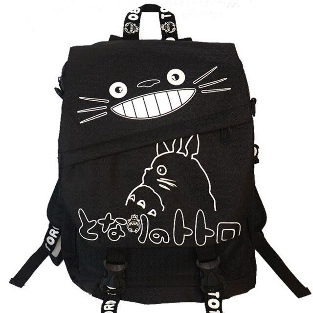Hayao Miyazaki Totoro Bolsa Anime Adolescentes Bookbag Mochila Bolsas Escuela 2016 Oxford Libro de Dibujos Animados Mi Vecino Totoro Impresa