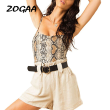 ZOGAA Spaghetti Strap Snake Print Women Camis Tops Sexy Evening Party Club Casual Summer 2019 Slim Fit Tank