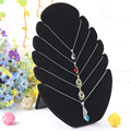New Black 1 Pc Flame Shaped Necklace Easel Showcase Holder Jewelry Pendants Display Stand Shelf Free Shipping Wholesale