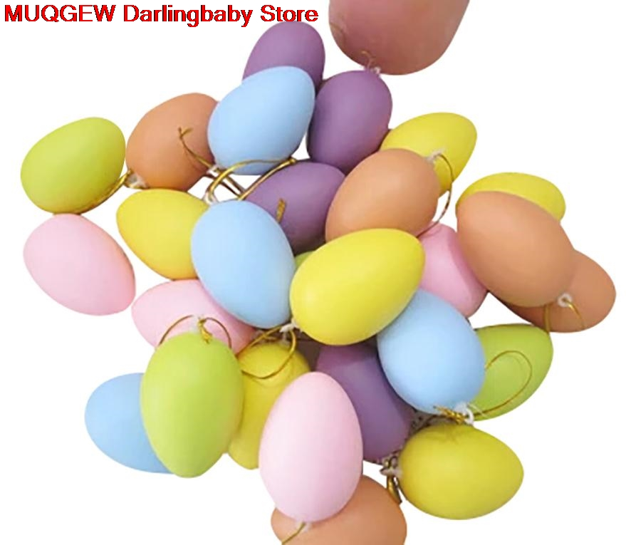 Children Painting Egg Toy With Rope Gifts Plastic Hanging Easter Arts Crafts Diy Toys Fun Funny Gadgets Kid Birthday Gi Toys & Hobbies