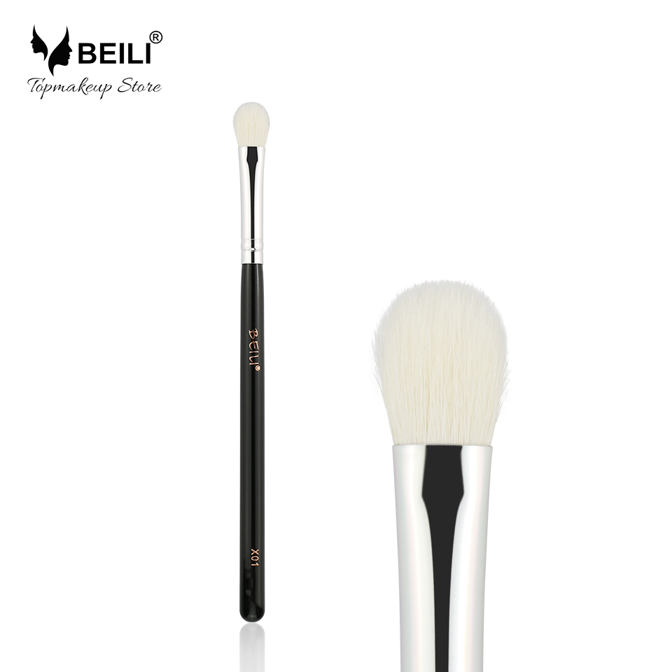 BEILI X01 Negru mâner Eye Shade Amestecare aspect fumat Natural Goat Hair Single Brush Machiaj