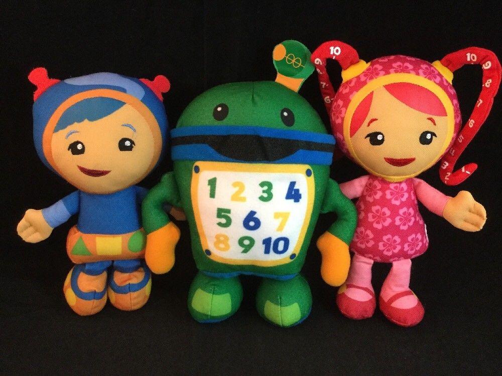 Team Umizoomi Milli Bot And Geo 9 Plush Toy Gift 3pcs Toys