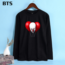 b05e4a95 BTS Pennywise Stephen King's It Funny T-shirt Women Ladies New Fashion  Fashion Tracksuit Long