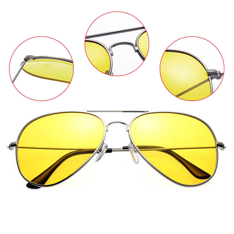 8642095cf3 ... Anti-glare Polarizer Car Drivers Night Vision Glasses Polarized Copper  Alloy Sunglasses night vision goggles ...