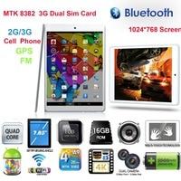 Free Shipping Boda Tablet PC OEM MTK8382 GPS 2G/3G Duad core CPU Dual Sim Android Phone 7.8 inch IPS HD 1G /16G WIFI Bluetooth