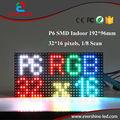 Bem-vindo a Ordem Da Amostra 6mm P6 SMD RGB Full Color CONDUZIU o Painel de Módulo de Tela 32x16 pixels 192x96mm mostrar o Vídeo, Imagem, Texto