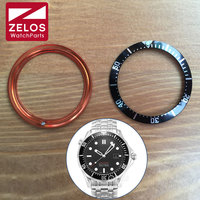 38mm Luminous Aluminum Watch Bezel Insert Loop For OMG Sea Master Automatic Watch Case Parts 212