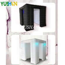 2.25m High Quality Custom wedding party inflatable photobooth LED photo booth tent with Two Doors Curtain Cover Photo backdrop