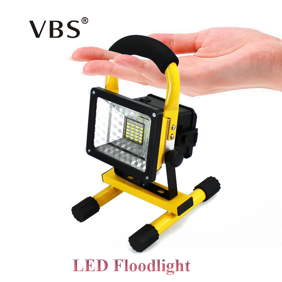 LED Floodlight Rechargeable Portable Spotlight Movable outdoor camping light grassland for 3*18650 batteries include charger