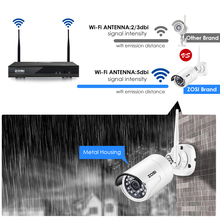 ZOSI 4CH 1080P Wifi NVR With 1TB HDD Security Camera System and 4 HD 2.0MP Indoor/Outdoor IP Cameras