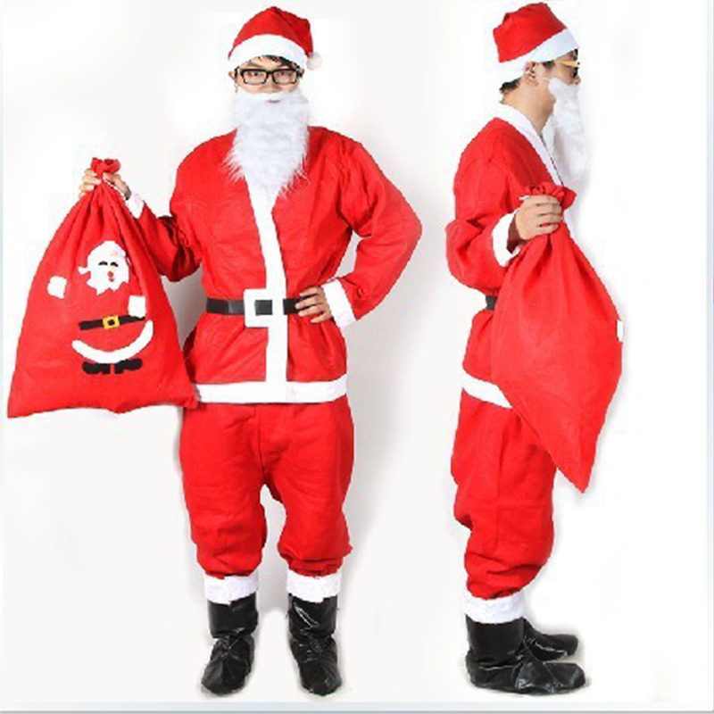 New Pattern Male Ma'am Santa Claus Clothing Christmas Performance Clothing Christmas Stage Show Clothing Cosplay Costume