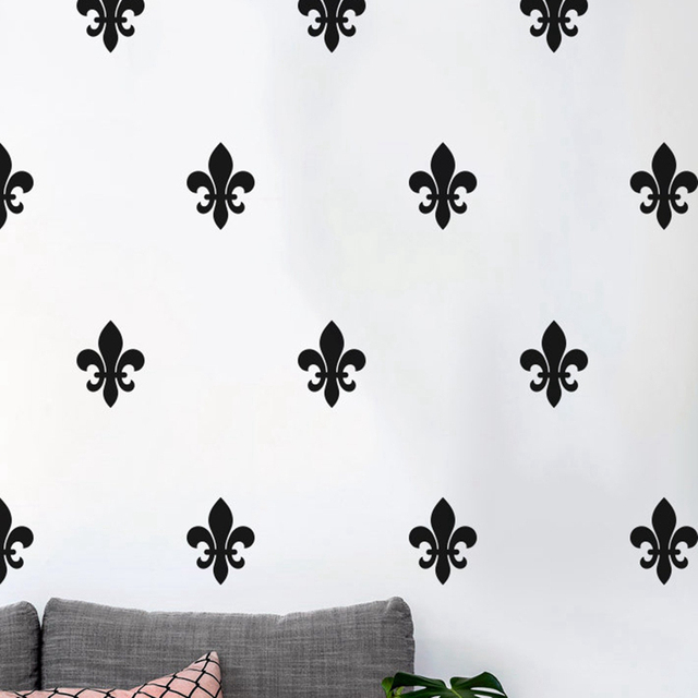 floral fleur de lis wall decal french style art pattern vinyl wall