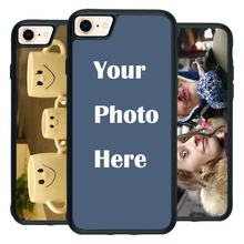 For iPhone 7 8 Custom Personalized Make your Photo pattern images Hard Body Soft Side Phone Case Cover