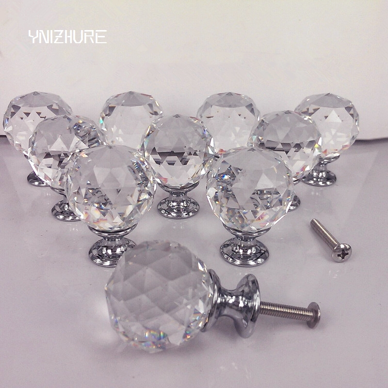 30mm 10Pcs Crystal Ball+Zinc Alloy Furniture cupboard wardrobe Cabinet Drawer Dresser Door Pulls Knobs Handles with screw кеды на танкетке mixfeel page 3