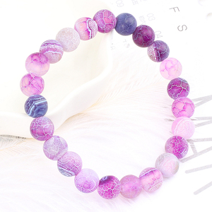 Image 4 - Pulseira de oração de buda para homens, joias clássicas, pedra natural, roxa, pulseiras para mulheres e homens, pulseira com miçangas