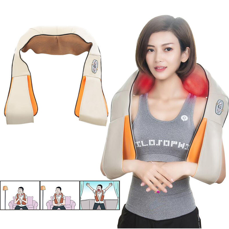 New multi functional massage shawl kneading the neck and shoulder waist cervical massager