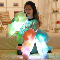 1pc 50cm Colorful Glowing Dog Plush Toy Luminious Stuffed Animal Toy For Kids Lovely Doll For