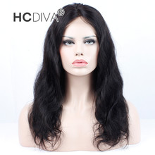 HCDIVA 360  Lace Front Human Hair Wigs For Black Women Brazilian Hair Body Wigs With Baby Hair Pre Plucked Swiss Lace Remy Hair