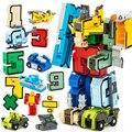 2017 nuevo diseño del bebé educación modelo figuras de acción robots de transformación de juguetes niños niños coche guerra de seguridad abs diy niños juguetes