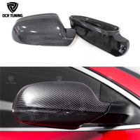 For Audi A4 B8.5 A5 S5 RS5 Carbon Fiber Rear View Side Mirror Cover Replacement Without Lane Assit & With side assit 2010 2016