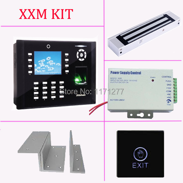 TCP/IP fingerprint access control with camera, power supply, magnetic lock,exit button, bracket ICLOCK660 access control system biometric fingerprint access controller tcp ip fingerprint door access control reader