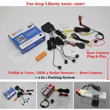 Liislee For Jeep Liberty 2002~2007 – Car Parking Sensors + Rear View Back Up Camera = 2 in 1 Visual / BIBI Alarm Parking System