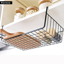 Iron paper towel Holder Storage basket Rack Shelf Practical Kitchen Cabinet Drawer Organizer Over Door Hanging For Kitchen Tools