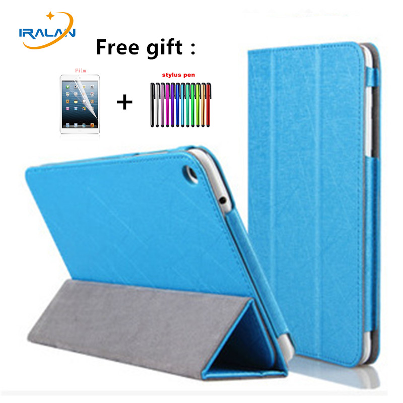 2017 New Ultra Slim fashion Flip Folding stand Case Cover For HuaWei MediaPad T1-821W/T1-823L 8.0 inch Tablet case + pen+Film mediapad m3 lite 8 0 skin ultra slim cartoon stand pu leather case cover for huawei mediapad m3 lite 8 0 cpn w09 cpn al00 8