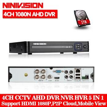 NINVISION 5in1 8CH CCTV 1080N XVR DVR NVR Hybrid Digital Video Recorder P2P Cloud Support 1080P CVBS TVI CVI IP AHD Camera Onvif