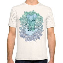Tops Tees 2018 Summer Fashion New Short Emerald Elephant In The Lilac Evening Crew Neck Short-Sleeve Mens T Shirts