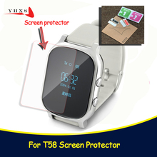 Baby Kids Child Smart GPS Watch Universal Protection Tempered Smartwatch Glass Screen Film Protector Case for Q50 T58 Y3 5Pcs