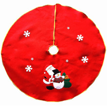 10 Pcs / Lot 90cm Santa Claus Tree Skirt Christmas Skirts XMAS Decoration Merry christmas new year navidad 2017 natal