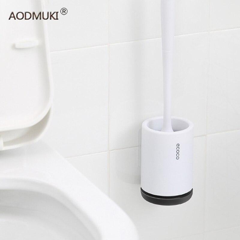 Image 3 - TRP Toilet Brush Head Holder Rubber Toilet Brush Holders Set Cleaner Bathroom Cleaning Tool Holder Brush Bathroom WC Accessories-in Cleaning Brushes from Home & Garden