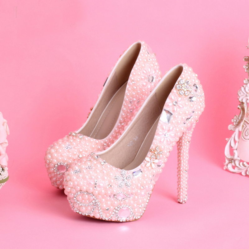 Collection Pink Bridal Shoes Pictures - Weddings Pro