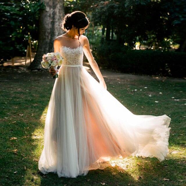 Plus Size Bohemian Lace Wedding Dress Boho Vesi Da Sposa Style Dresses 2016 Robe