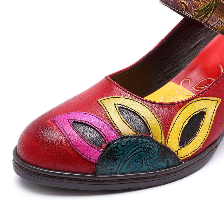 D Knight Square Heel Pumps Genuine Leather Shoes For Women Luxury Quality Heels Round Toe Bridal Wedding Shoes Russian Big Size (6)