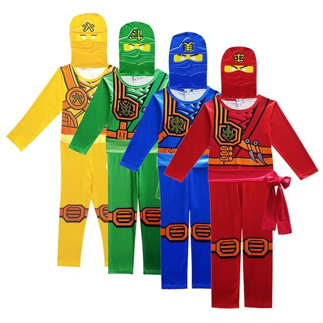 Ninjago/костюмы для костюмированной вечеринки; комплекты одежды для мальчиков; костюм супергероя для костюмированной вечеринки; костюм ниндзя для мальчиков; нарядное платье на Хэллоуин для девочек; уличная одежда для детей