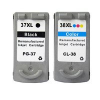 Cartridges PG37 CL38 37 38 Replacement For Canon Pixma MP140 MP190 MP210 MP220 MP420 IP1800 IP1900 IP2500 IP2600 MX300 MX310