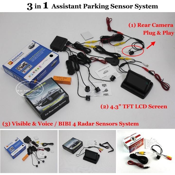 3 in 1 Assistant Parking Sensor System - 2436 -HE