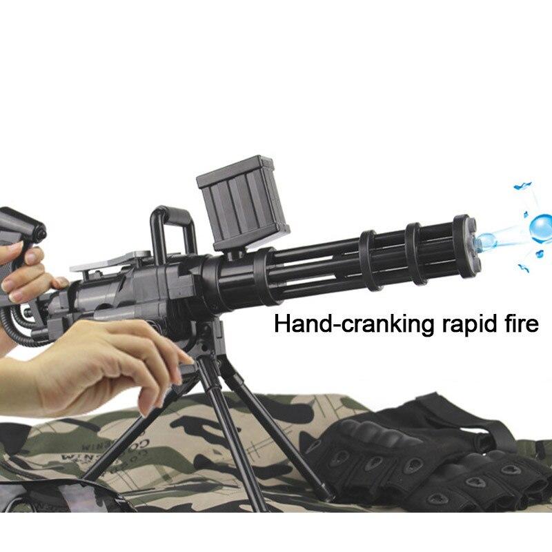 Parent-child Outdoor Sports Game Gun Toys Manual Burst Water Guns Soft Bullet Toy Submachine Guns Safety Children Toys Gifts