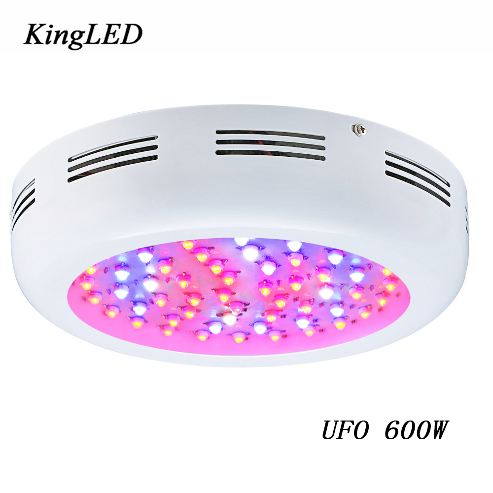 KingLED UFO 600W Double chips LED Grow light High efficiency IR Full Spectrum Medical Flower Plants Grow and Flower